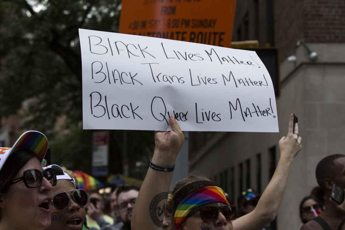 Black Trans Lives Matter Protest Sign