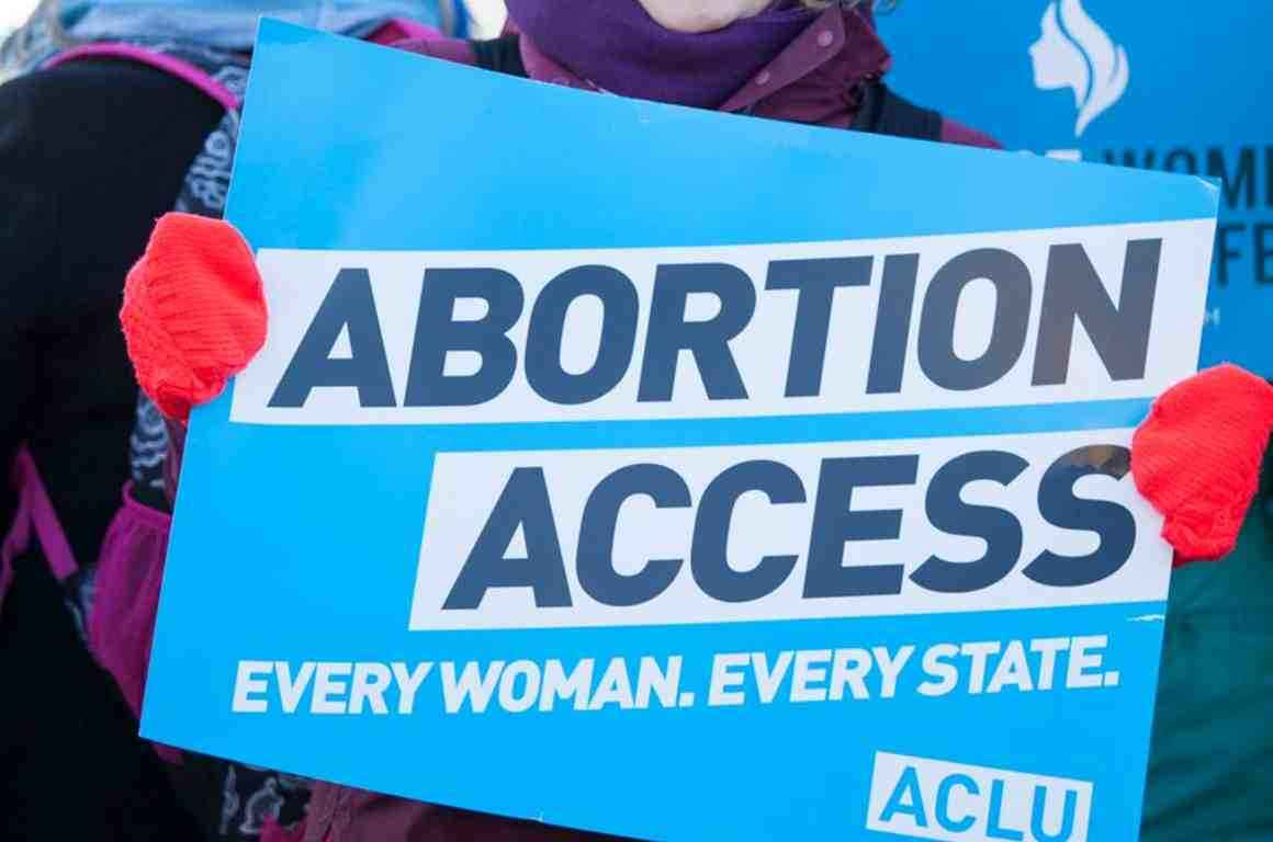"Rally sign that reads ""Abortion Access"""