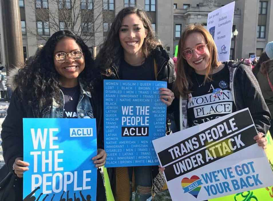 ACLU Indiana Volunteer Protests