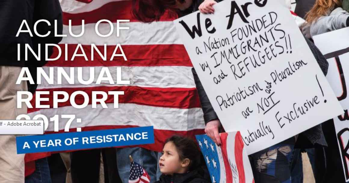 ACLU of Indiana Annual Report Cover Image