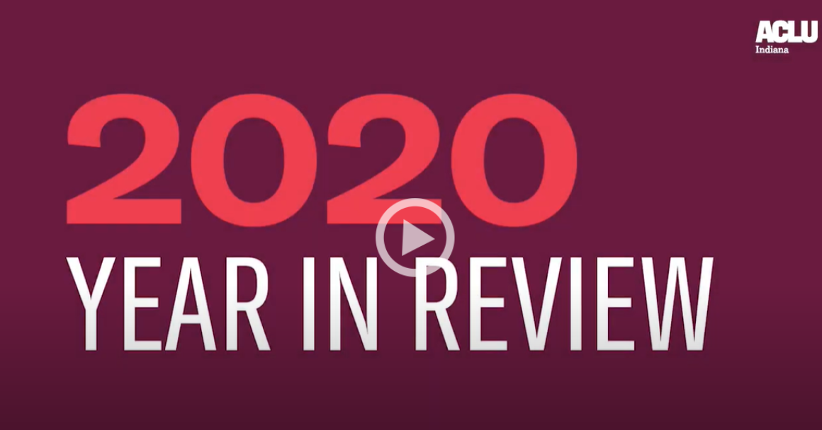 VIdeo Screen - 2020 year in review with play button
